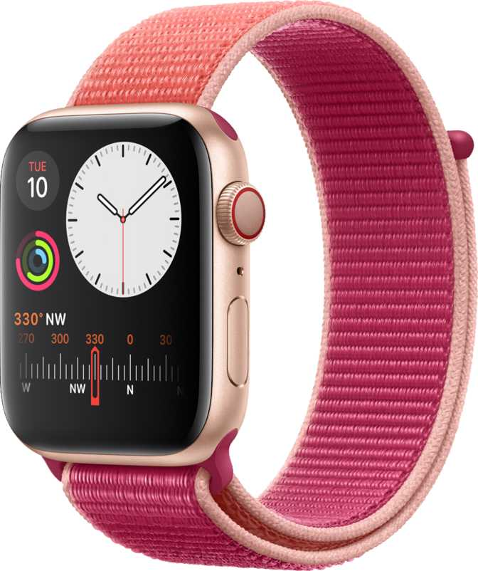 Apple Watch Series 5 GPS + Cellular Stainless Steel Case 44mm