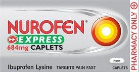 Nurofen Express Caplets 684mg