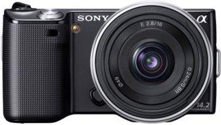 Sony Alpha NEX-5 + Sony E16mm/ F2.8 Pancake
