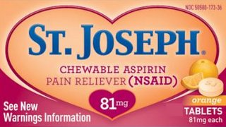 St. Joseph Chewable Aspirin 81mg