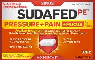 Sudafed PE Pressure Pain and Mucus