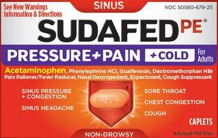 Sudafed PE Pressure & Pain & Cold