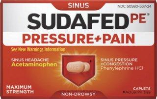 Sudafed PE Pressure & Pain